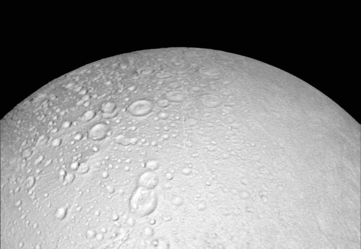 The north pole of Saturn's icy moon Enceladus is seen in an image from NASA's Cassini spacecraft taken October 14, 2015. Credit: Reuters/NASA/JPL-Caltech/Space Science Institute/Handout via Reuters/Files