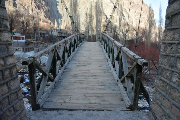 Turtuk wooden bridge. Credit: Aaquib Khan