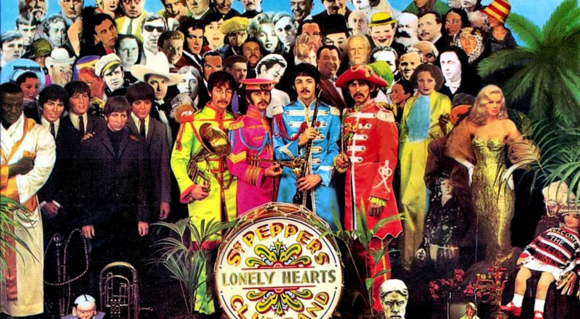 The cover art work of the Sgt Pepper's Lonely Hearts Club Band