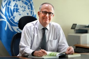 Julio Berdegué, FAO regional representative for Latin America and the Caribbean, in his office in Santiago. Credit: Maximiliano Valencia/FAO