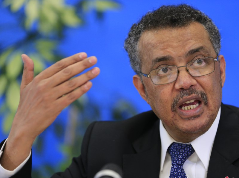 Tedros Adhanom Ghebreyesus, candidate for Director General of the World Health Organisation, attends a news conference at WHO headquarters in Geneva, Switzerland, January 26, 2017. Credit: Reuters/Pierre Albouy/File photo