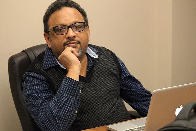 Narada CEO Mathew Samuel at his Delhi home. Credit: Wikipedia