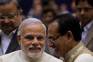 File photo of Narendra Modi and Shivraj Singh Chouhan. Credit: PTI