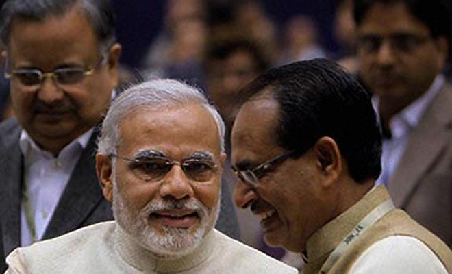 File photo of Narendra Modi and Shivraj Singh Chouhan. Credit: PTI