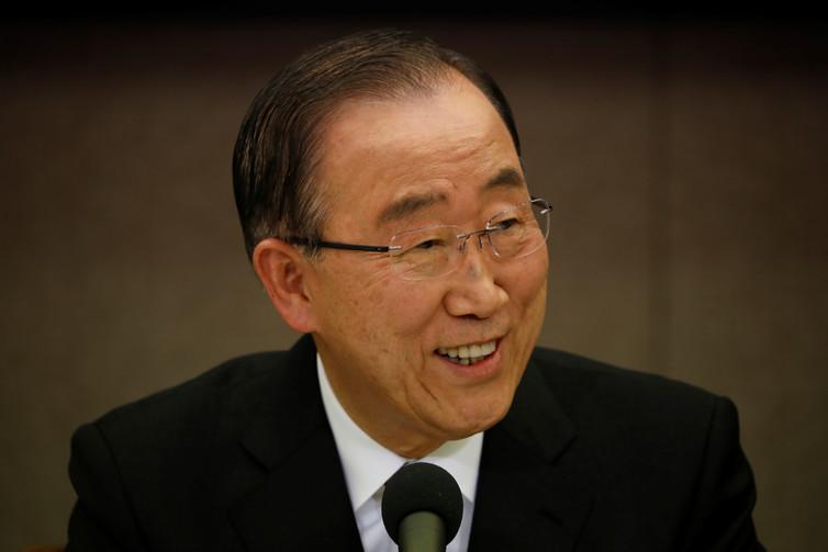 Former UN secretary-general Ban Ki-moon withdrew from the presidential race in early April. Credit: Kim Hong-Ji/Reuters
