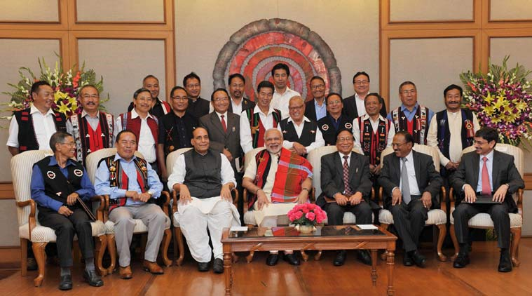 PM Modi with rebel Naga leaders