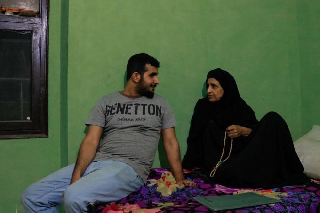 Maryam Ahmad Abdullah and Abdul Jabbar Makrash. Credit: Ishtiaq Wani