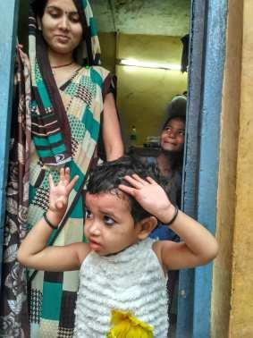Tanishka plays as her mother Jiya looks on. Credit: Priscilla Jebaraj