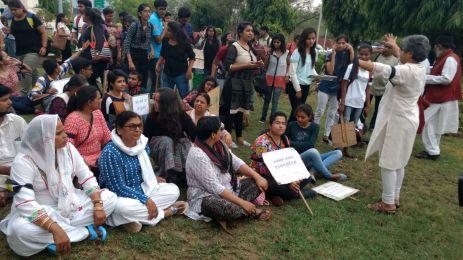 Protestors in Jaipur