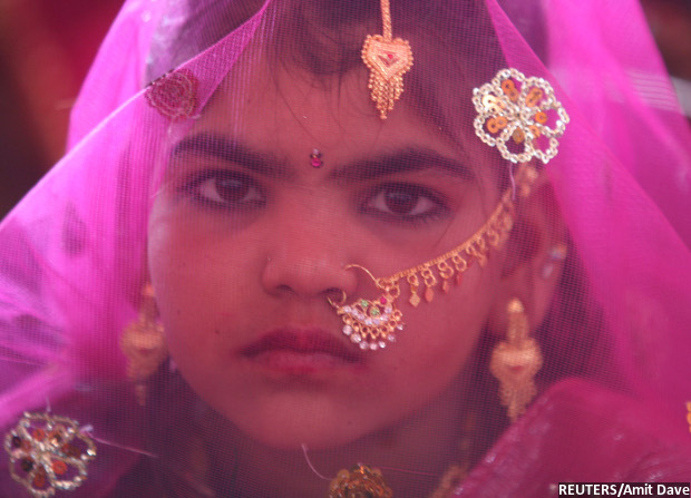 A child bride. Credit: Reuters/ Amit Dave