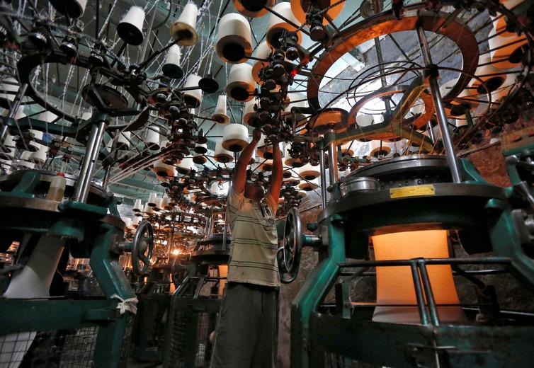 An employee at a Kolkata undergarment factory. Rupak De Chowdhuri/Reuters