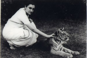 Indira Gandhi with a tiger. Courtesy: Simon and Schuster