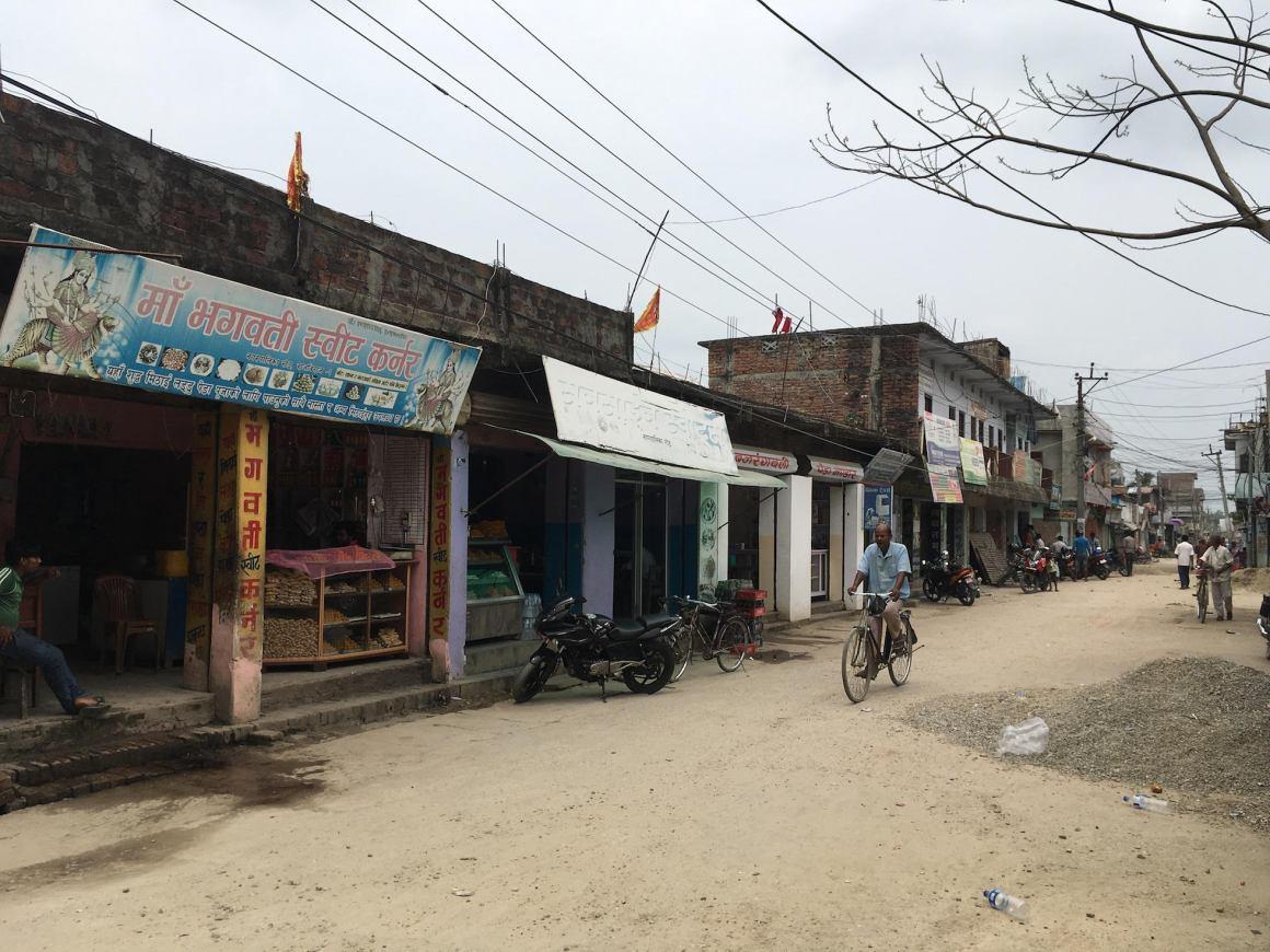 A street in the Rajbiraj bazaar. Credit: