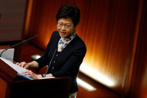 Hong Kong Chief Executive Carrie Lam attends her first Question and Answer session at the Legislative Council in Hong Kong, China, July 5, 2017. Credit: Reuters/Bobby Yip