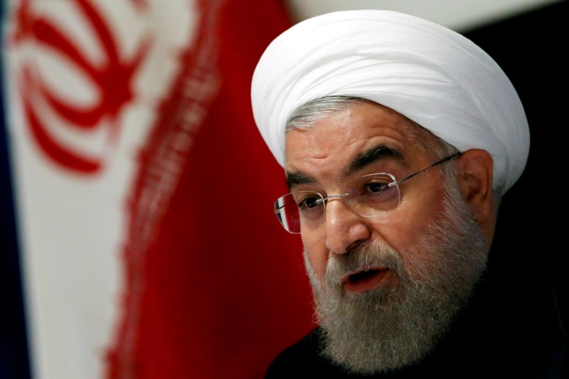 Iranian President Hassan Rouhani takes part in a news conference near the United Nations General Assembly in the Manhattan borough of New York, US, September 22, 2016. Credit: Reuters/Lucas Jackson