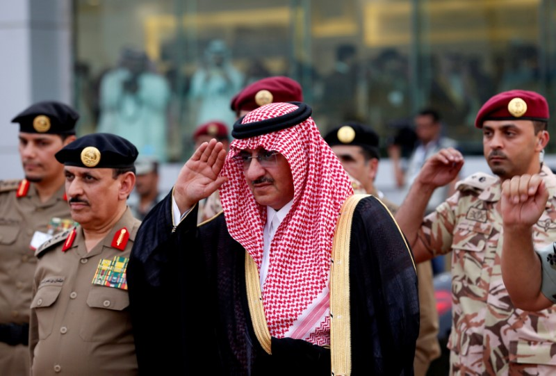 Saudi Crown Prince Mohammed Bin Nayef, the interior minister, arrives to a military parade in preparation for the annual Haj pilgrimage in the holy city of Mecca September 5, 2016. Credit: Reuters/Ahmed Jadallah