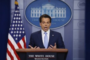 New White House Communications Director Anthony Scaramucci addresses the daily briefing at the White House in Washington, US, July 21, 2017. Credit: Reuters/Jonathan Ernst