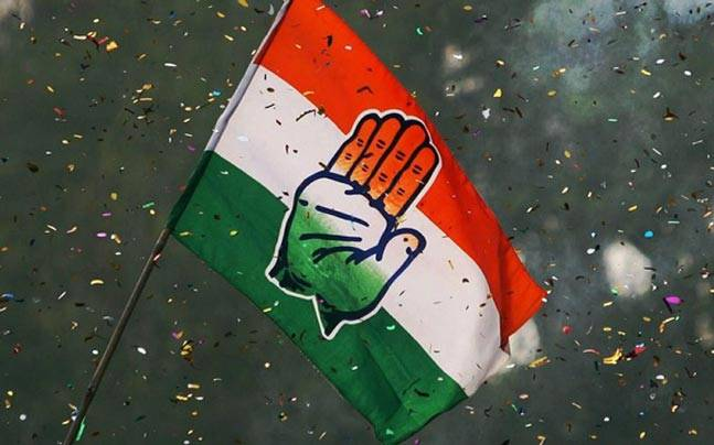 Congress party flag. Credit: PTI