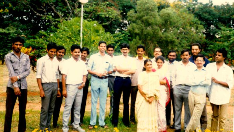 The IISc ERNET team around 1990. Source: Research Matters