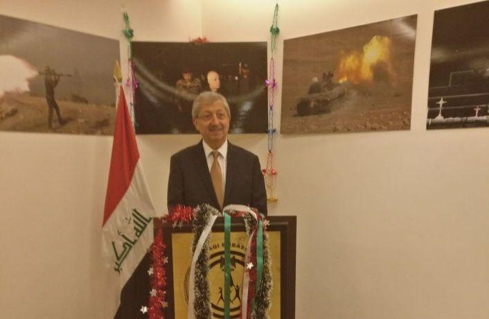 Iraqi ambassador to India Fakhri Hassan Al Issa. Credit: Devirupa Mitra/The Wire
