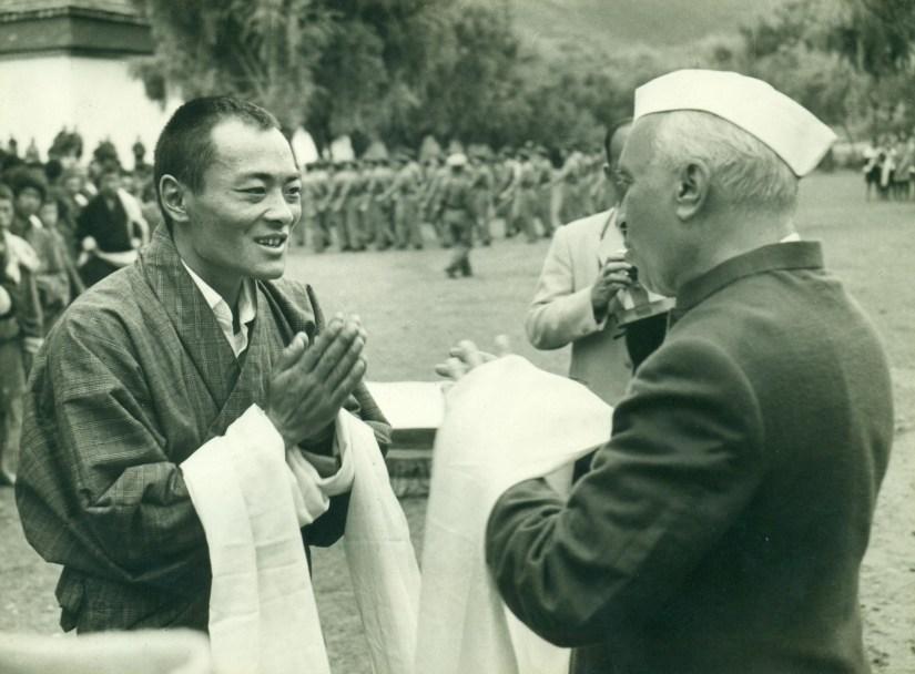 Nehru with Jigme Wangchuk