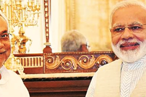 Bihar chief minister Nitish Kumar and Prime Minister Narendra Modi. Credit: PTI