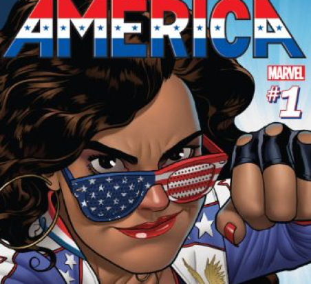 Book cover of America's series of comic books. Credit: Marvel's Digital Comic Shop