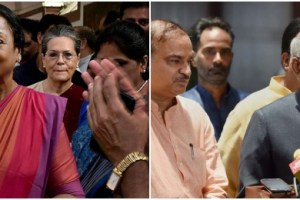 Presidential candidates Meira Kumar and Ram Nath Kovind. Credit: PTI