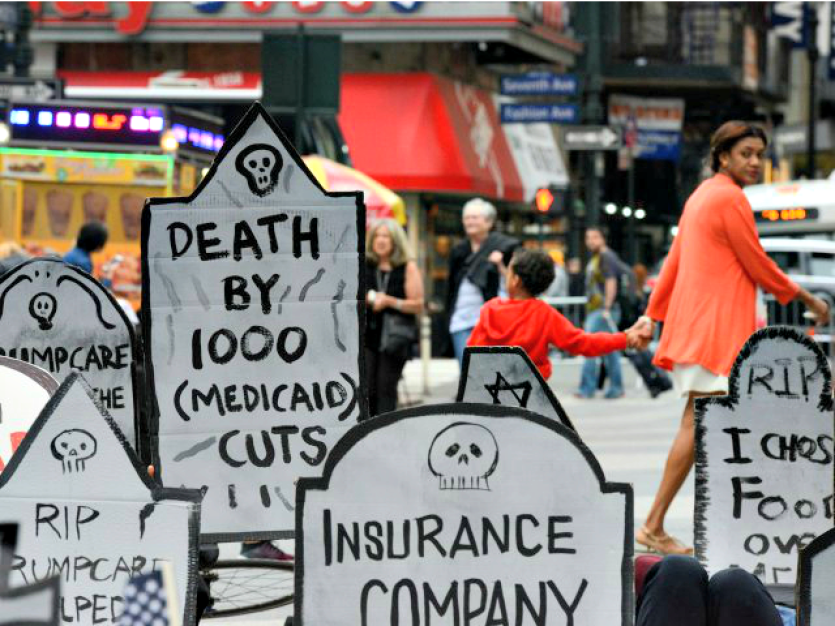 A protest against Medicaid cuts. Credit: Reuters/Stephanie Keith