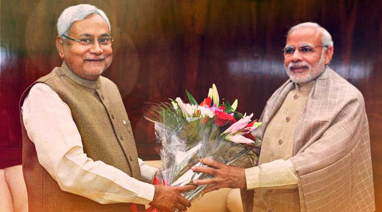 Bihar chief minister Nitish Kumar with Prime Minister Narendra Modi. Credit: PTI/Files