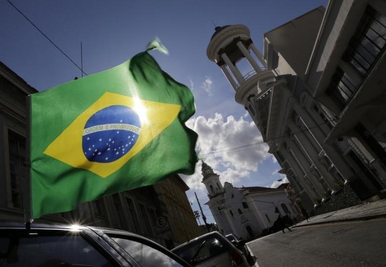 A Brazilian flag. Credit: Reuters/Henry Romero