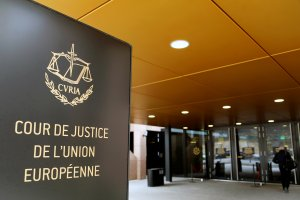 FILE PHOTO: The entrance of the European Court of Justice is pictured in Luxembourg, January 26, 2017. Picture taken January 26, 2017. Credit: Reuters/Francois Lenoir/File Photo