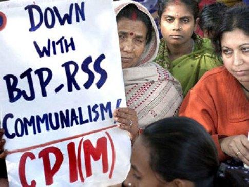 CPI(M) workers in Delhi. Credit: PTI