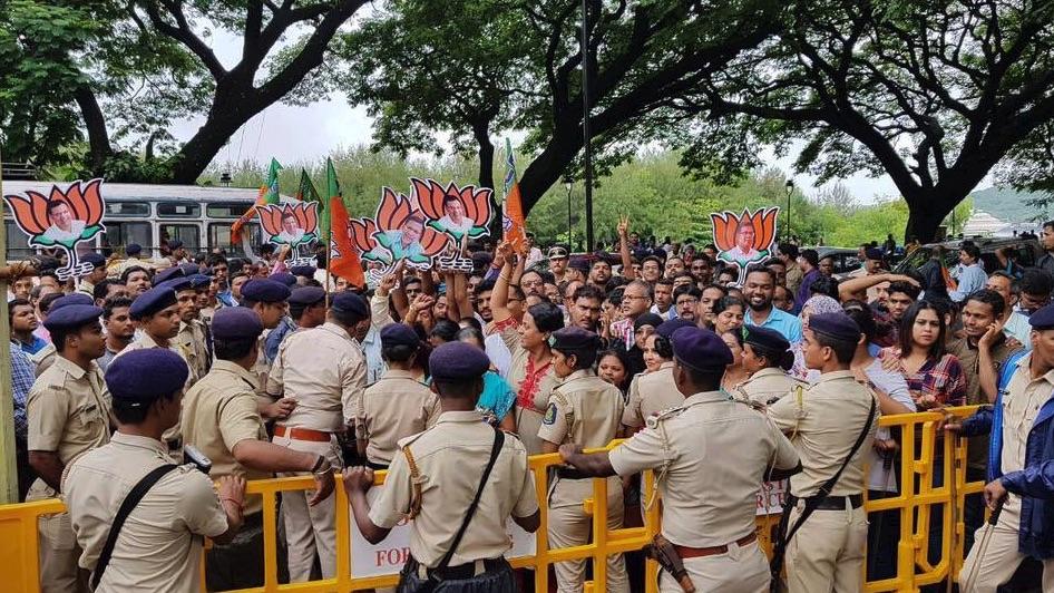 BJP won the Panaji and Valpoi seats that went to polls on August 23. Credit: Twitter/@visrane