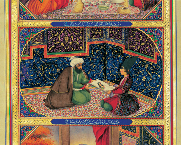A painting depicting a scene from Thousand and One Nights by Sani ol-Molk, 19th century. Credit: Wikimedia Commons