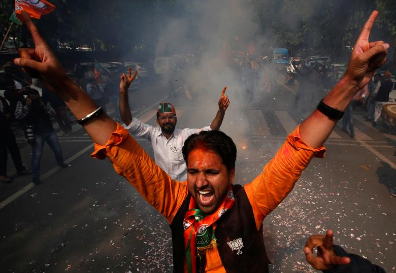 Supporters of Bharatiya Janata Party. Credit: Reuters/Adnan Abidi
