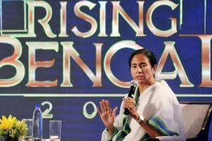 West Bengal chief minister Mamata Banerjee speaks at a function in Kolkata on Friday late evening. Credit: PTI