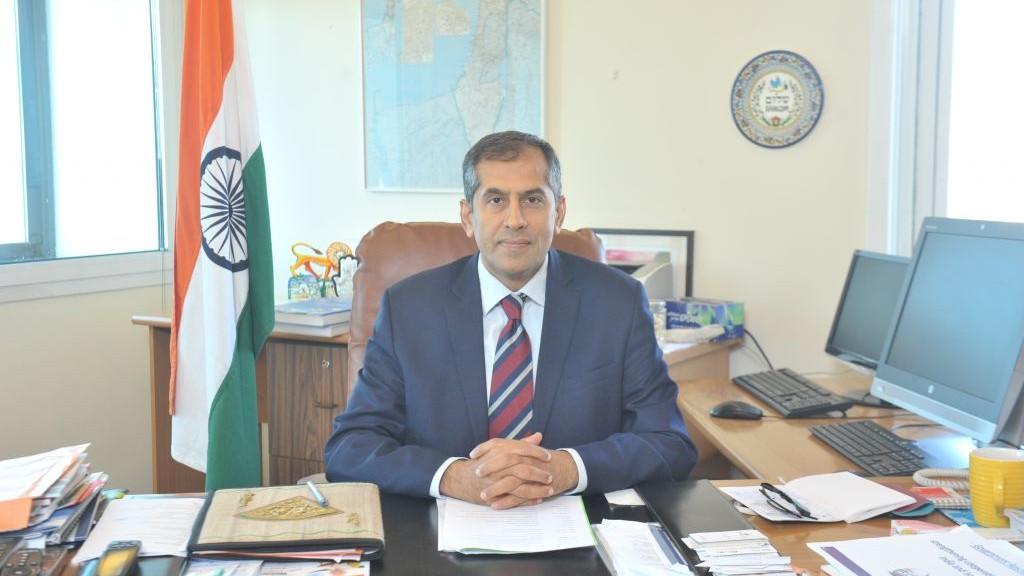 Indian ambassador to Israel Pavan Kapoor. Credit: Indian Embassy Tel Aviv