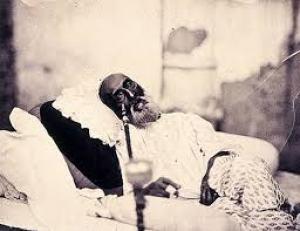 Bahadur Shah Zafar, on his death bed. Credit: Wikimedia Commons