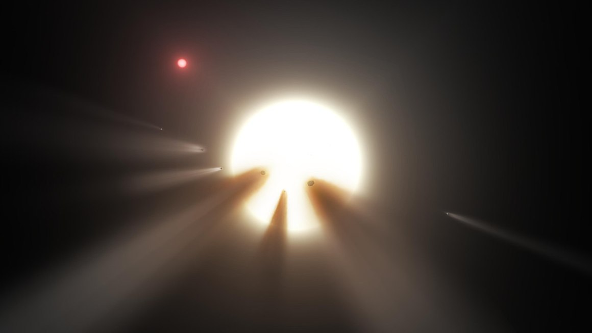 An artist's impression of Tabby's star. Credit: NASA/Wikimedia Commons