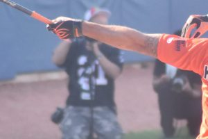 Colin Kaepernick hits it outta the park. Credit: edrost88/Flickr, CC BY 2.0
