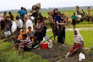 Rohingya refugees rest after travelling over the Bangladesh-Myanmar border in Teknaf, Bangladesh, September 1, 2017. Credit: Reuters/Mohammad Ponir Hossain