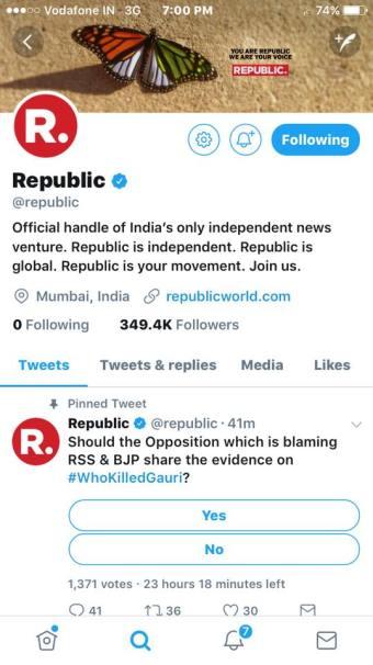 republic, arnab goswami, gauri lankesh
