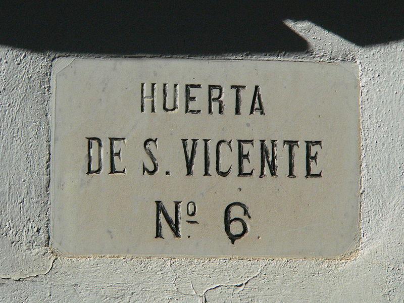 Huerta de Saint Vicente. Credit: Wikimedia Commons