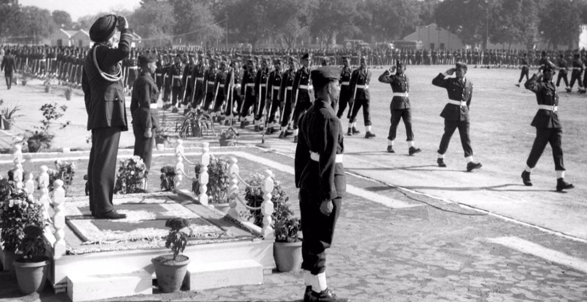 Air Force Marshal Arjan Singh. Credit: Doordarshan/Twitter
