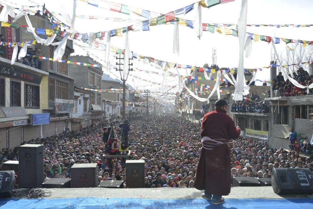 A lunar new year celebration organised by the Ladakh Buddhist Organisation in 2014. Credit: Twitter/Richen Tundup