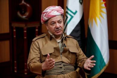 File photo: Iraq's Kurdistan region's President Massoud Barzani speaks during an interview with Reuters in Erbil, Iraq July 6, 2017. Credit: Reuters