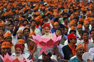 A BJP rally ahead of the 2014 general elections, in Ahmedabad February 20, 2014. Credit: Reuters/Amit Dave