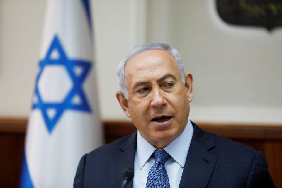 Israeli Prime Minister Benjamin Netanyahu attends the weekly cabinet meeting in Jerusalem September 10, 2017. Credit: Reuters/Ronen Zvulun