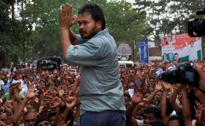KMSS leader and farmers' rights activist Akhil Gogoi. Credit: PTI